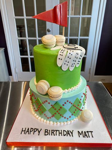 Hole-in-One Golf Birthday Cake