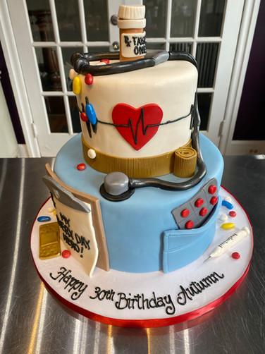 Nurse Everyday Hero Birthday Cake