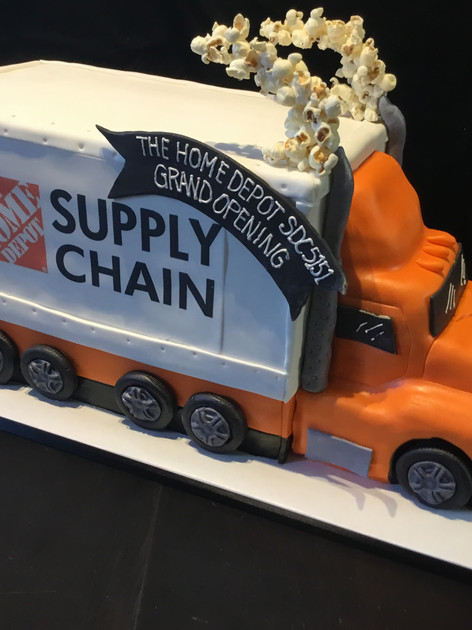 Home Depot Supply Truck Event Cake