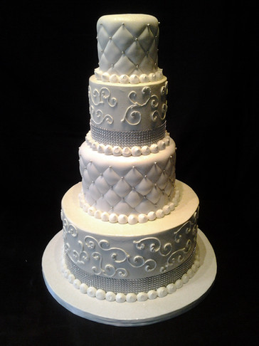 Quilted and Scrolled Traditional Wedding