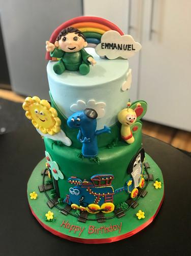 Bob the Train Cartoon Birthday Cake