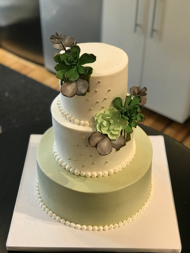 Succulent Baby Shower Cake