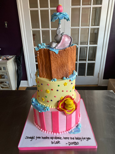 Dumbo Baby Shower Cake