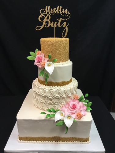 Gold Sugar-Coated Rosettes Modern Wedding
