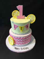 Lemonade Birthday Cake