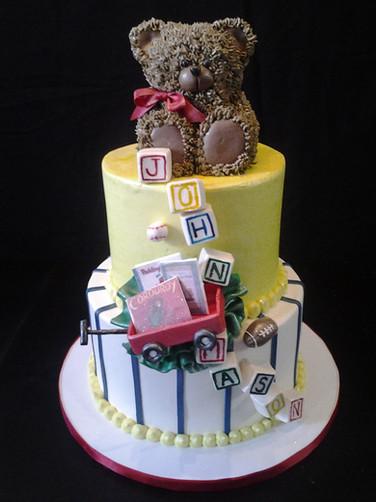 Toy Wagon Birthday Cake