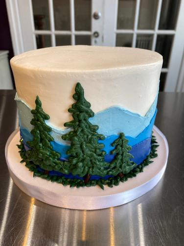 Evergreen Landscape Groom's Cake