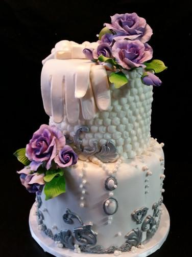 Purple Glove Birthday Cake