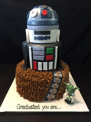 Star Wars Graduation Cake