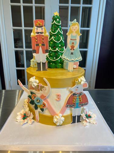 Nutcracker Ballet Holiday Cake
