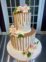 Watercolor Drip Bridal Shower Cake