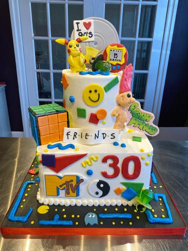 90's Kid Birthday Cake