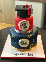 High School to College Graduation Cake