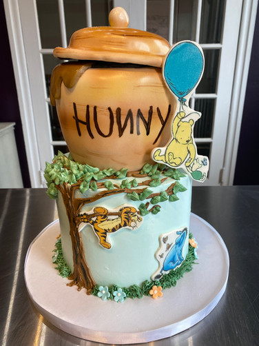 Winnie the Pooh Honey Pot Baby Shower Cake