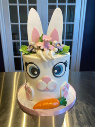 Easter Bunny Face Holiday Cake