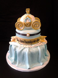 Cinderella Carriage Bridal Shower Cake