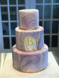Purple and Gold Marbled Modern Wedding