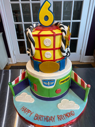 Woody and Buzz Toy Story Birthday Cake