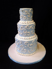 Blue Scrollwork Traditional Wedding