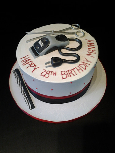Razor & Tools Birthday Cake