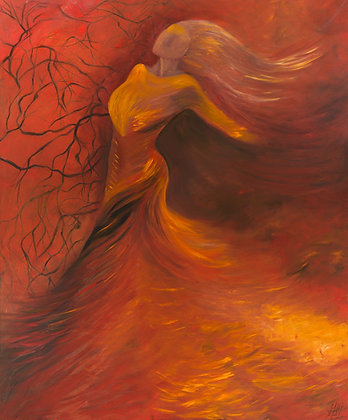 Heart of Fire Canvas Print