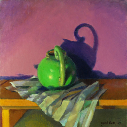 Kettle on Striped Paper