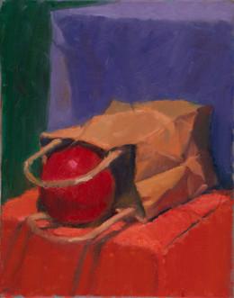 Apple and Bag