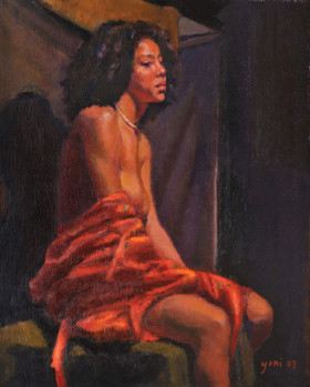 N Girl in Red Robe_Park_2007_oil_20x16.jpg
