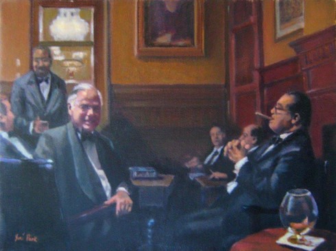 """Frank Giordano and Supreme Court Justice Antonin Scalia (at the Union League of Philadelphia) """"But I am the law."""""""