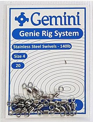 Gemini Stainless Steel Swivels 140lb test