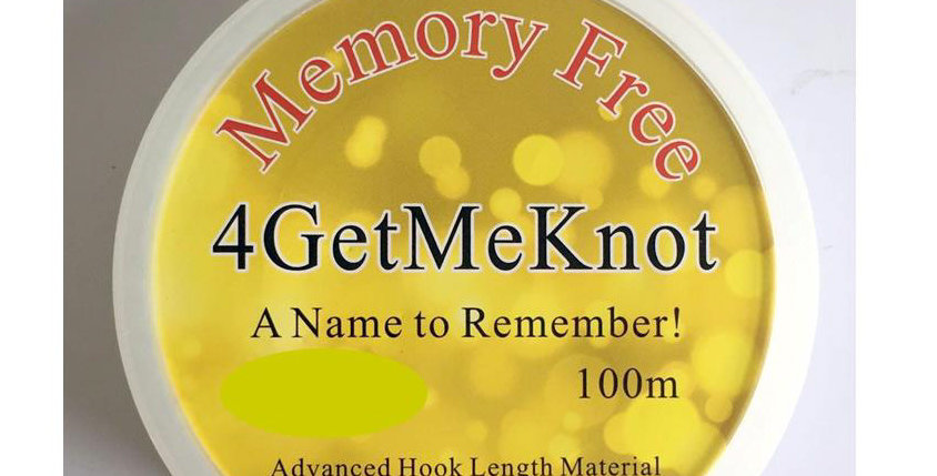 CJT 4GetMeKnot Memory Free Monofilament Line 100m