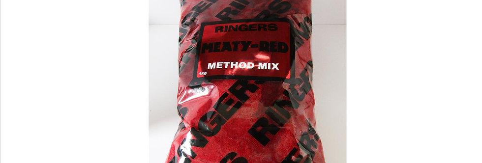 ringers meaty red method mix groundbait 1KG
