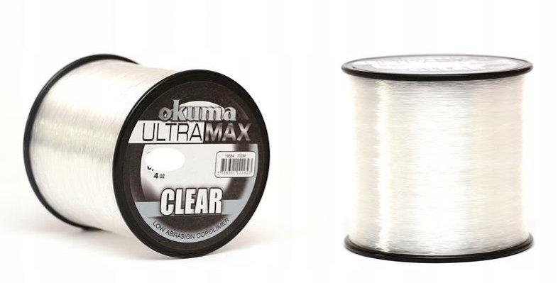 Clear Okuma Ultra Max Line 4oz Bulk Spool