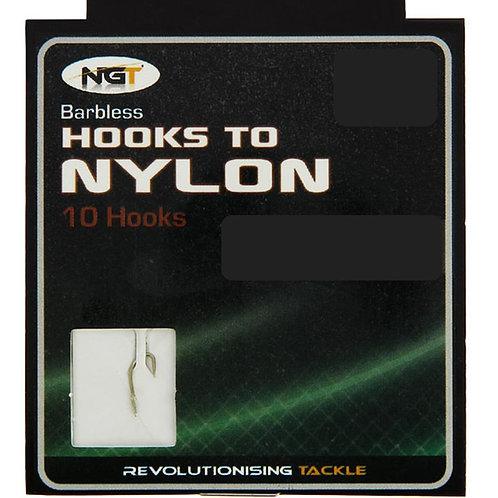 ngt barbless fishing hooks to nylon