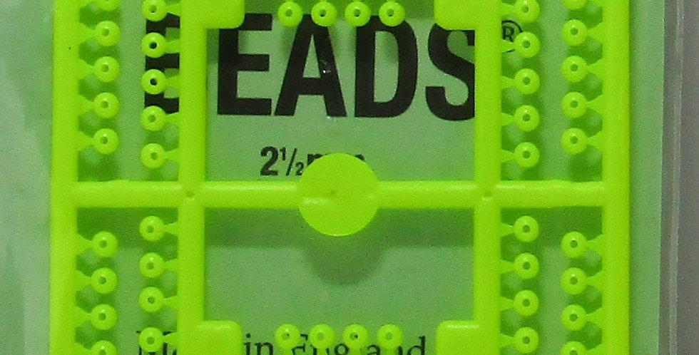 micro Fishing rig beads 2.5mm yellow