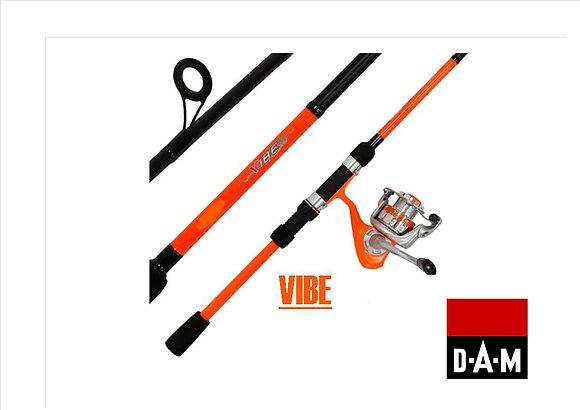 Dam vibe orange spin fishing combo