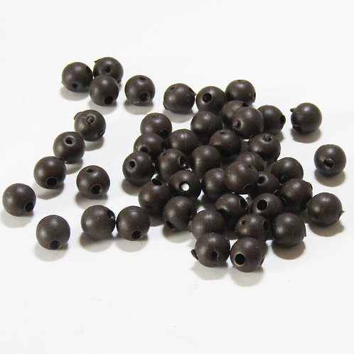 Rubber Shock Beads (Brown) 20 per pk