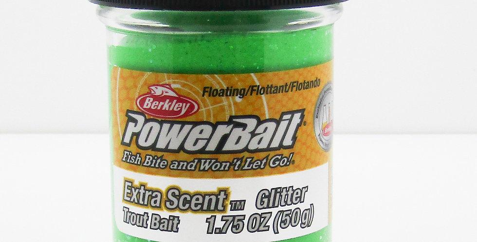 powerbait spring green glitter trout bait