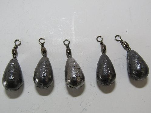 swivel bomb fishing weights
