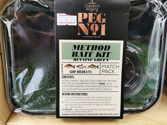 Peg No.1 Method Bait Kit Betaine Green