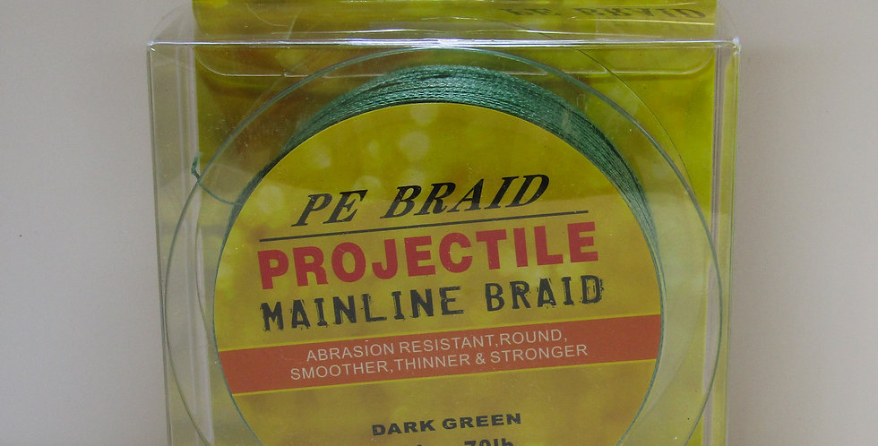 PE Projectile Mainline Braid