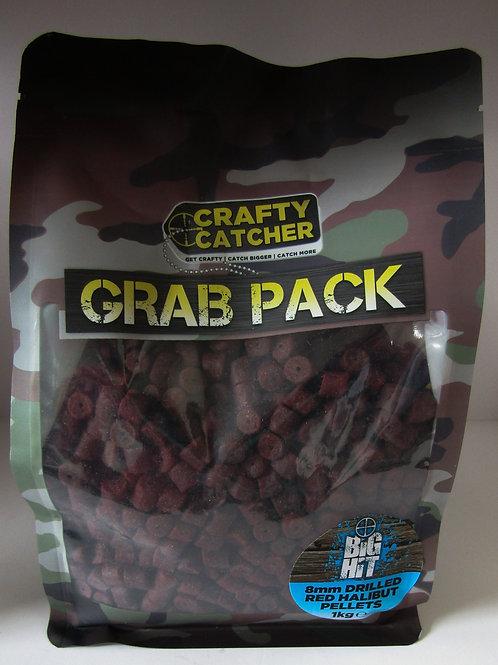 crafty catcher pre drilled halibut pellets grab bag