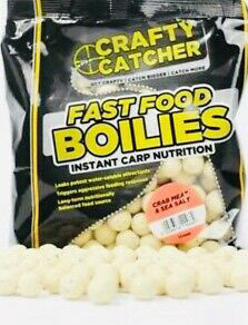 Crafty Catcher 15mm Fast Food Boilies 500g CRAB MEAT AND SEA SALT