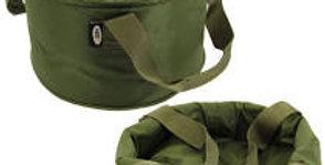 ngt deluxe folding groundbait bowl erect and folded