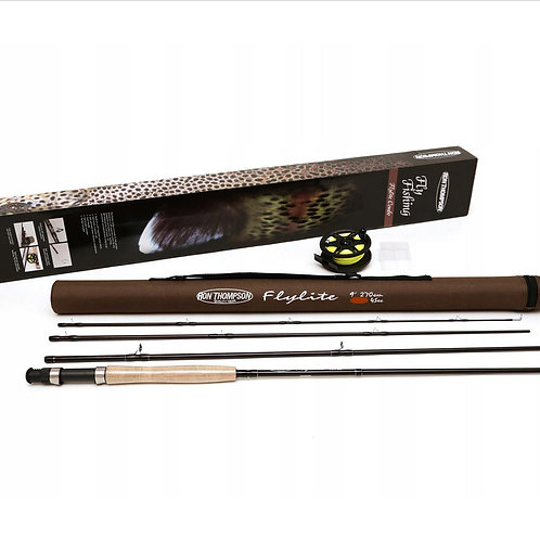 fly fishing combo rod and reel and case