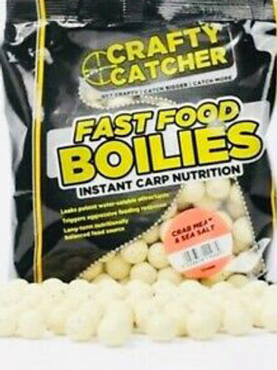 crafty catcher 15mm crab meat and sea salt boilies