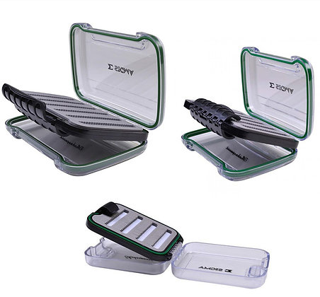 shakespeare sigma fly boxes, small, medium and large
