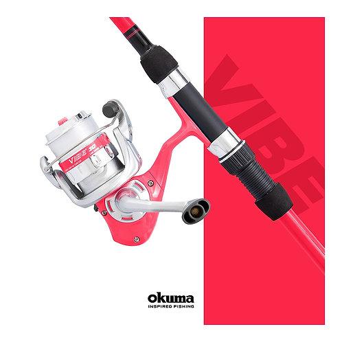 okuma pink fishing rod and reel