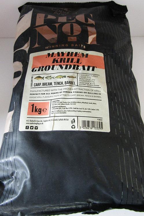 peg No1 krill groundbait 1 kilo bag