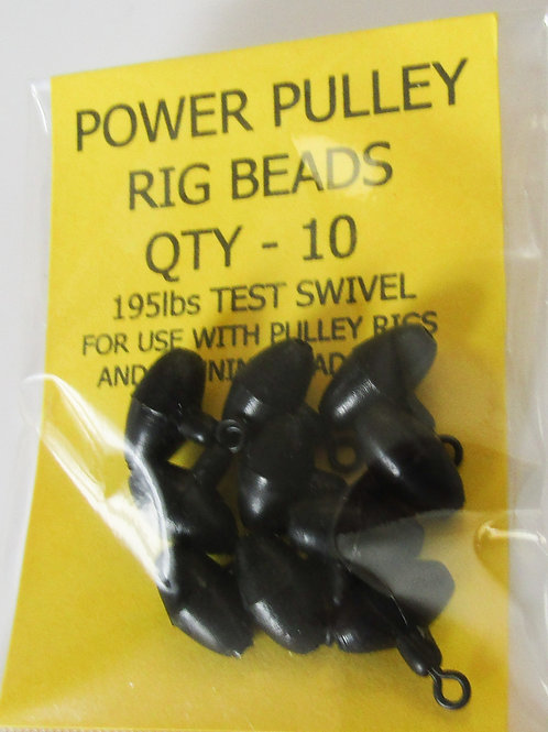 pack of black power pulley rig beads